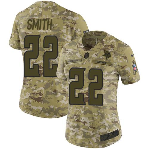 cheap jerseys Women\'s Minnesota Vikings #22 Harrison Smith Camo Stitched Limited 2018 Salute to Service Jersey official jerseys nfl