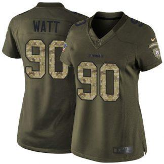 cheap nfl jerseys aliexpress Women\'s Pittsburgh Steelers #90 T. J. Watt Green Stitched Limited 2015 Salute to Service Jersey cheap nfl jerseys paypal
